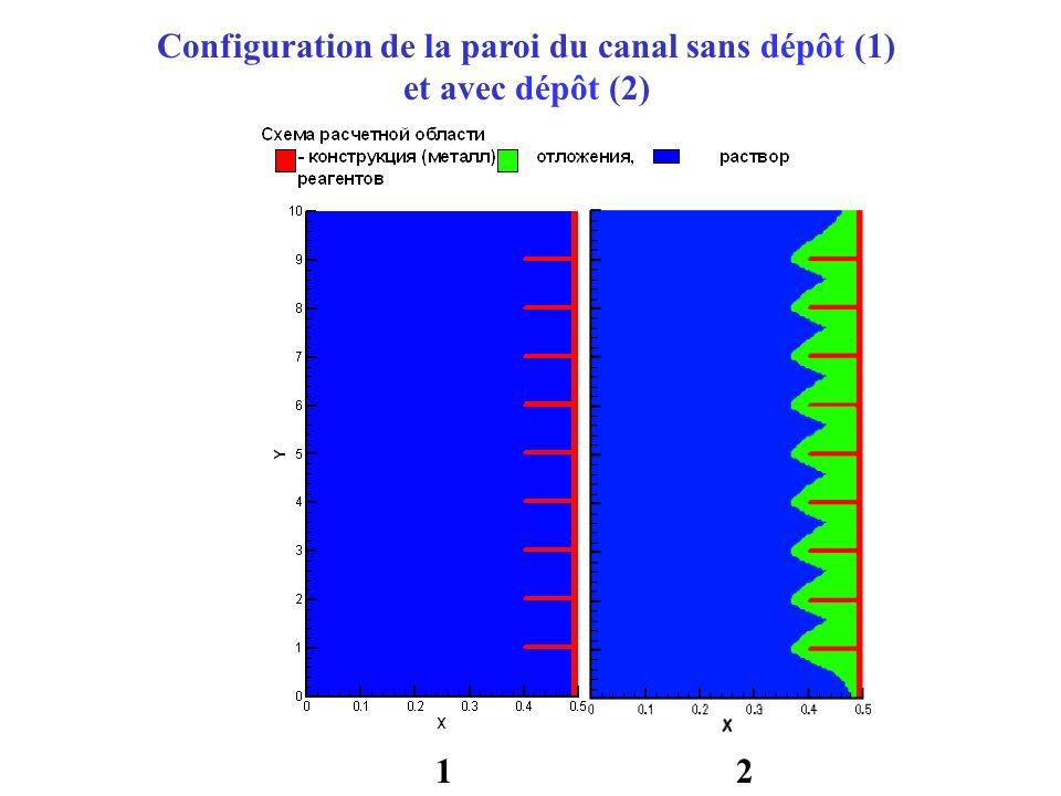 Configuration de la paroi du canal sans dépôt (1)