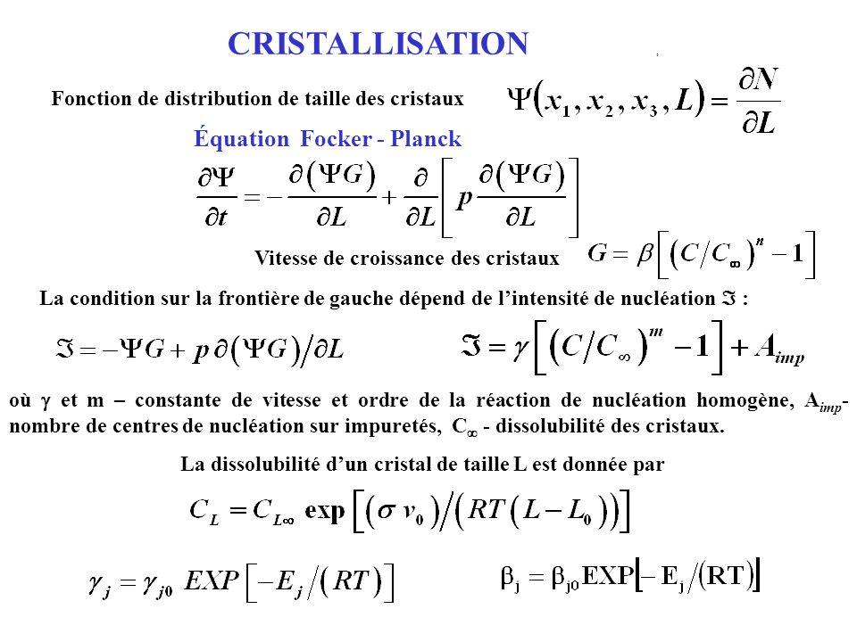 CRISTALLISATION , Équation Focker - Planck