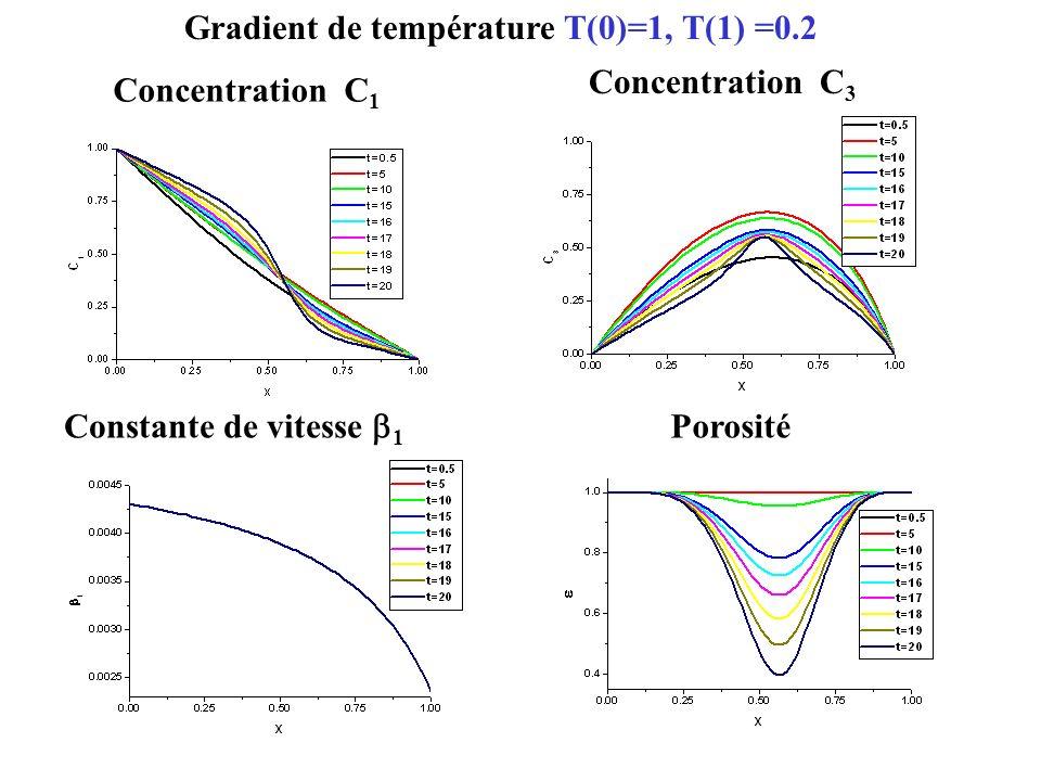 Gradient de température Т(0)=1, Т(1) =0.2