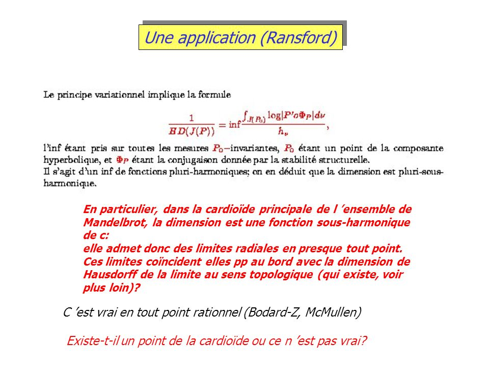 Une application (Ransford)