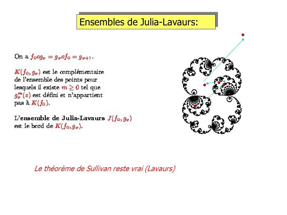 Ensembles de Julia-Lavaurs: