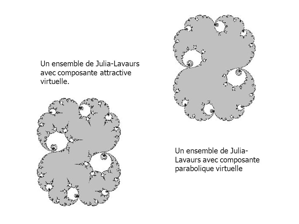 Un ensemble de Julia-Lavaurs avec composante attractive virtuelle.