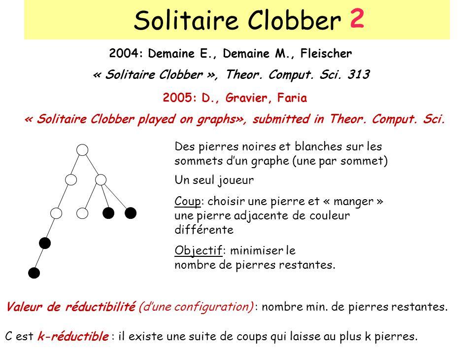 Solitaire Clobber 2 2004: Demaine E., Demaine M., Fleischer