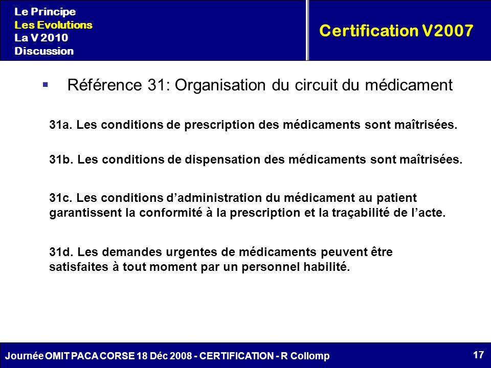 Référence 31: Organisation du circuit du médicament