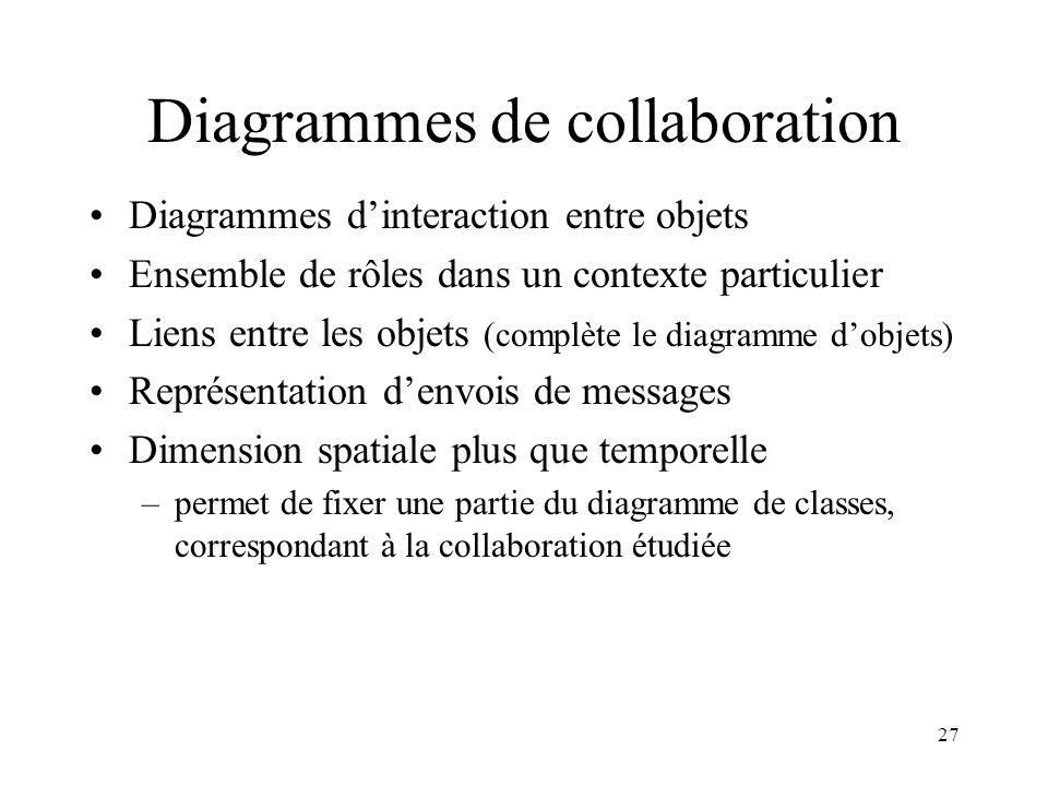 Diagrammes de collaboration