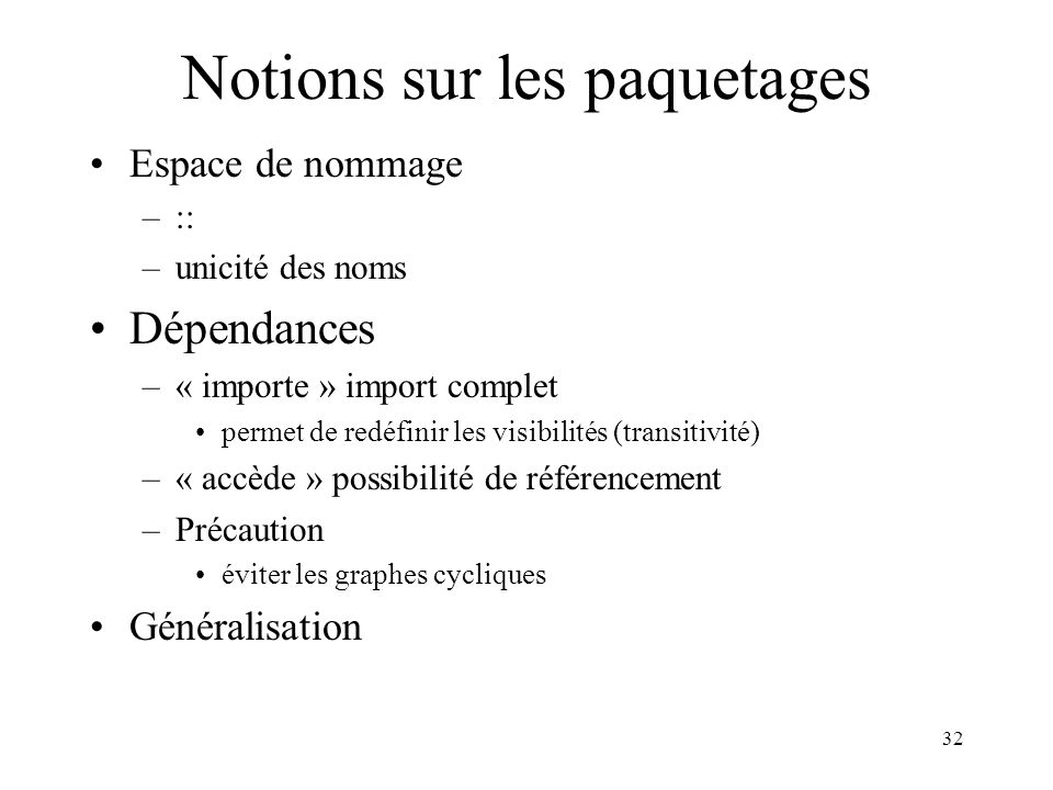 Notions sur les paquetages