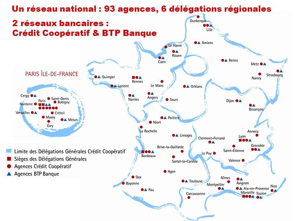 Un réseau national : 93 agences, 6 délégations régionales