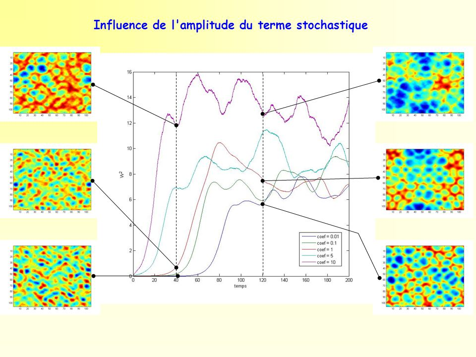 Influence de l amplitude du terme stochastique