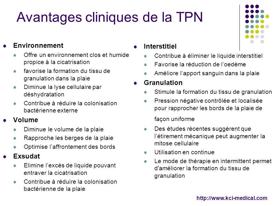 Avantages cliniques de la TPN