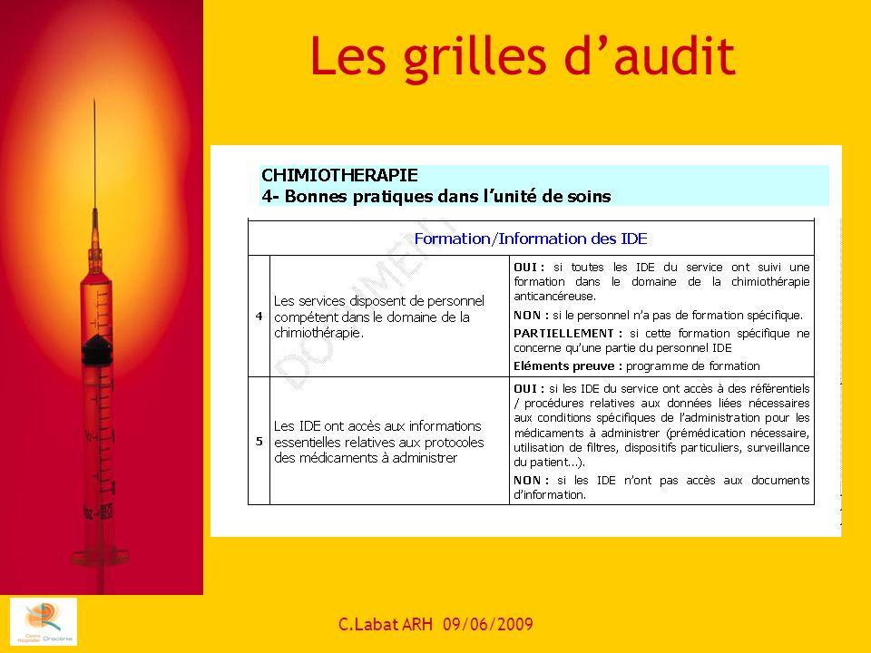 Les grilles d'audit C.Labat ARH 09/06/2009
