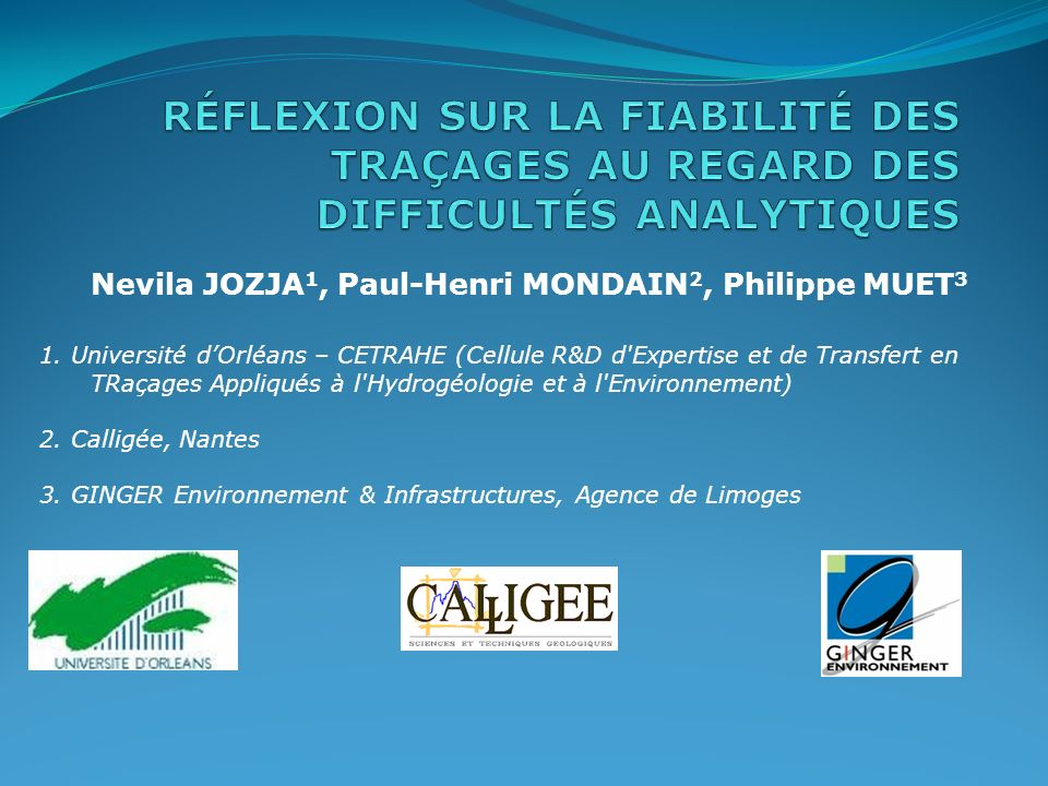 Nevila JOZJA1, Paul-Henri MONDAIN2, Philippe MUET3