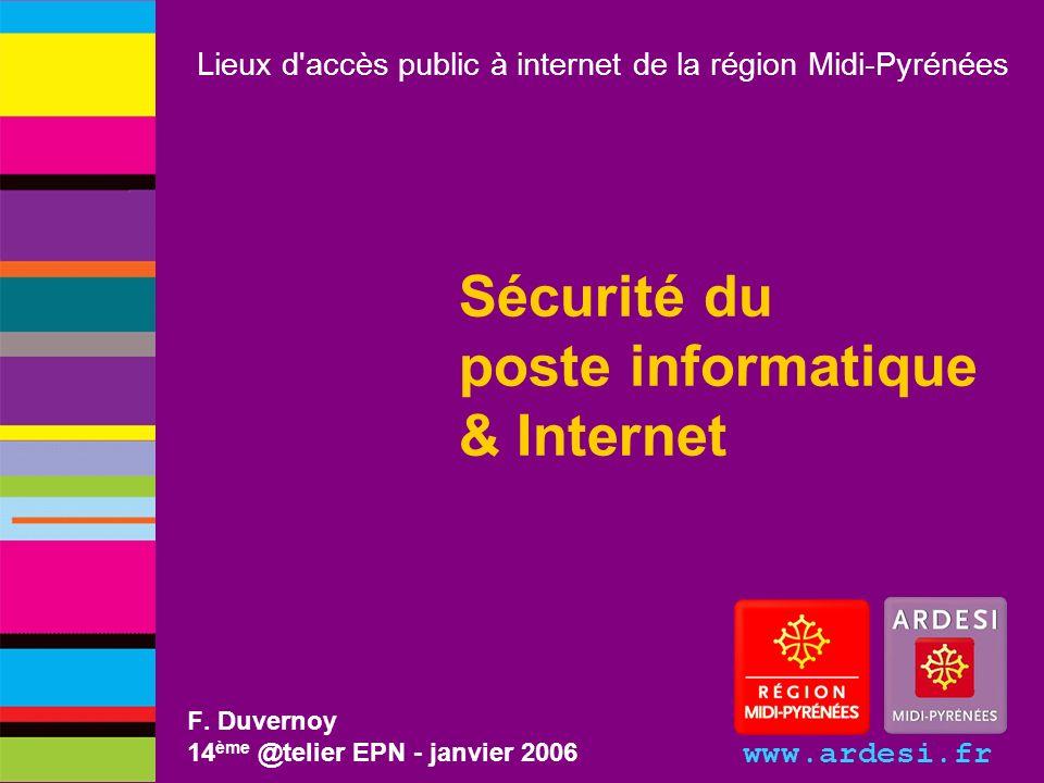 Sécurité du poste informatique & Internet