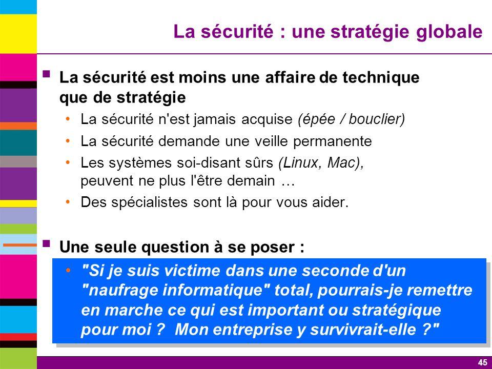 La sécurité : une stratégie globale