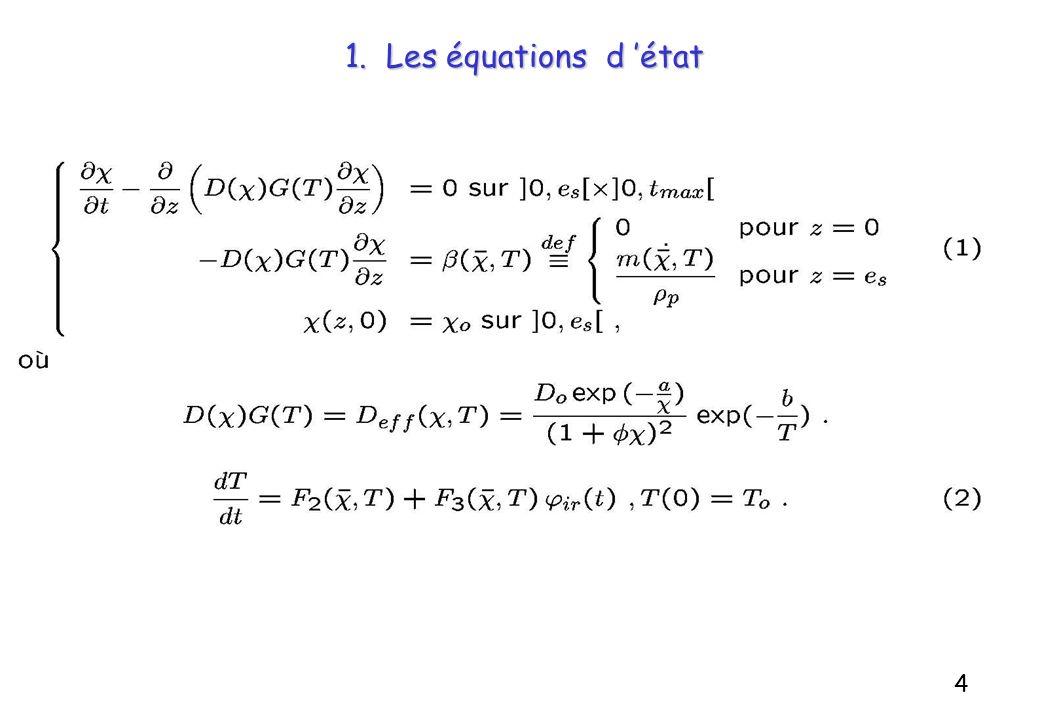 1. Les équations d 'état 4