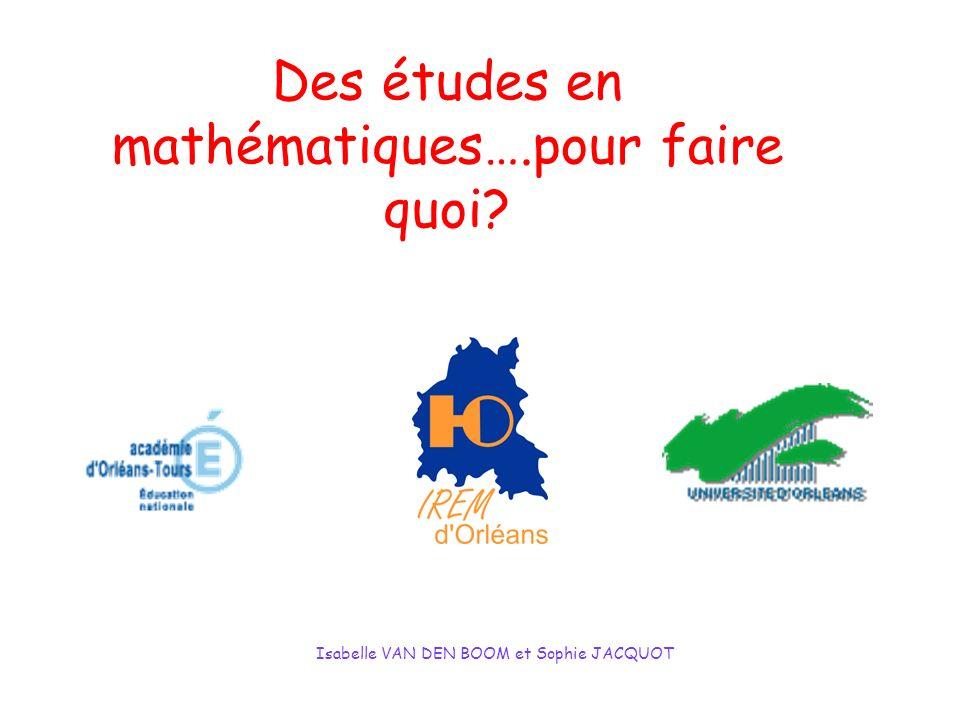 Des études en mathématiques….pour faire quoi