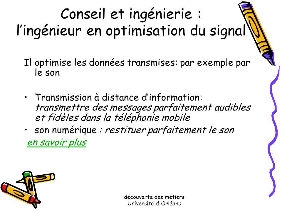 Conseil et ingénierie : l'ingénieur en optimisation du signal
