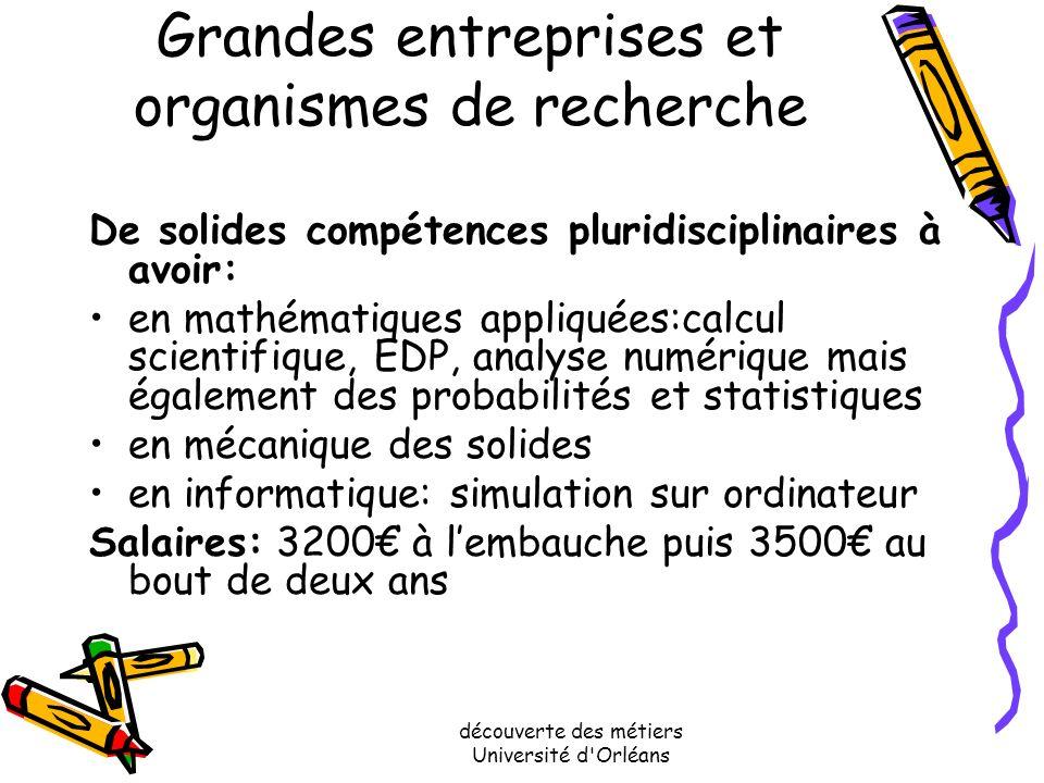 Grandes entreprises et organismes de recherche