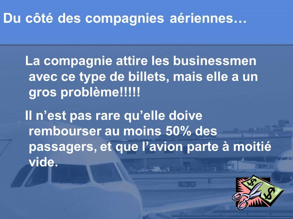 Du côté des compagnies aériennes…
