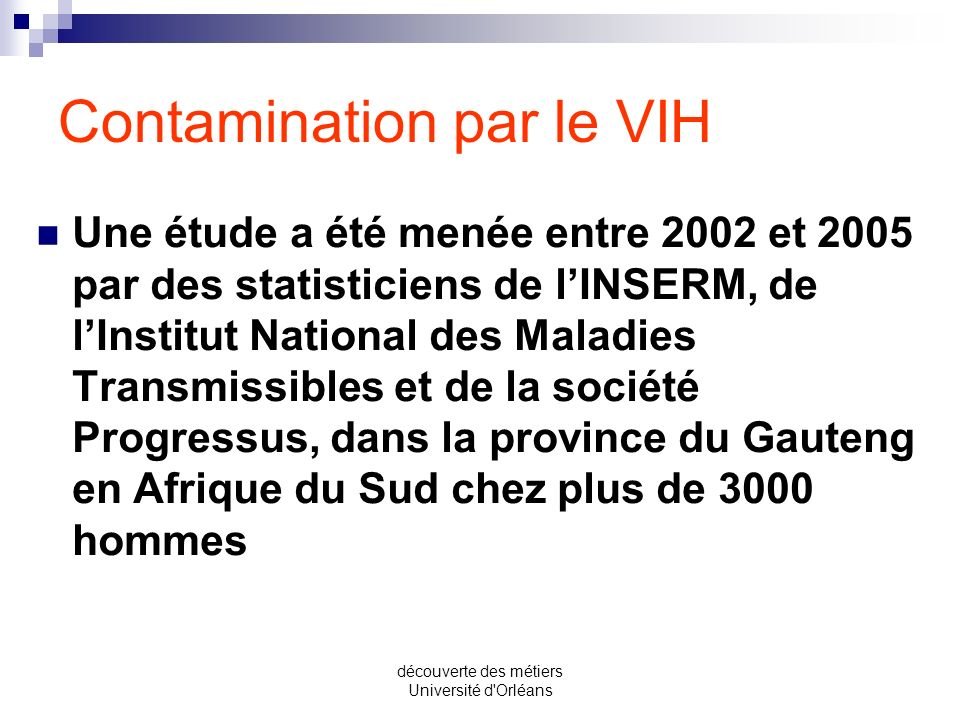 Contamination par le VIH