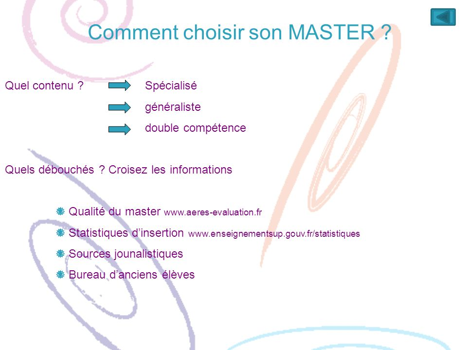 Comment choisir son MASTER