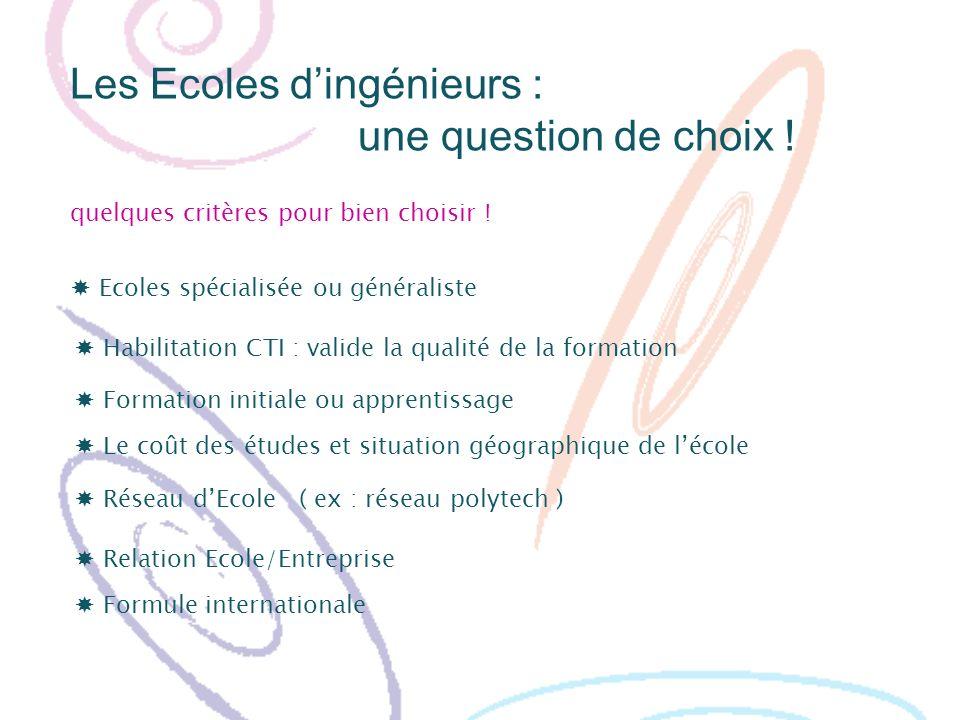 Les Ecoles d'ingénieurs : une question de choix !