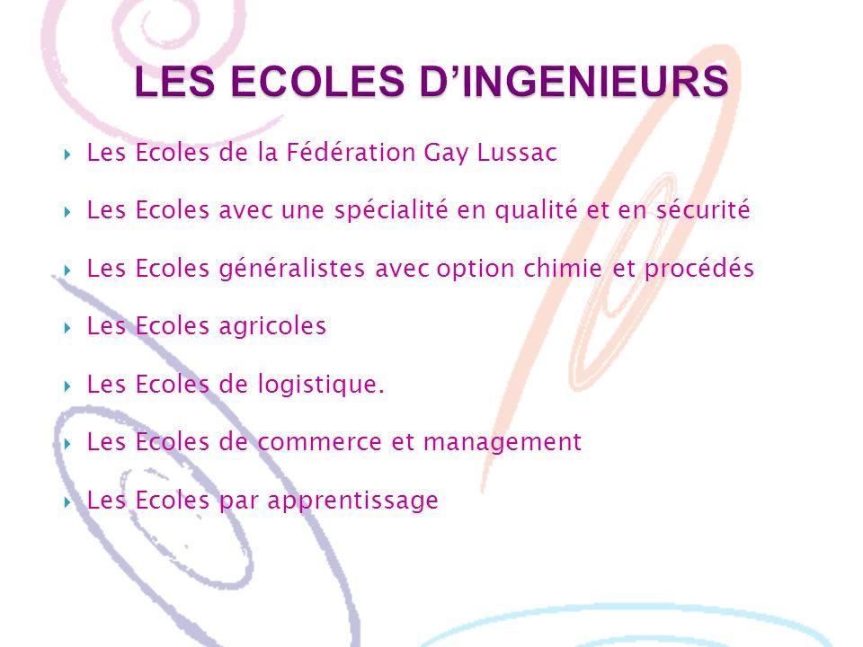 LES ECOLES D'INGENIEURS