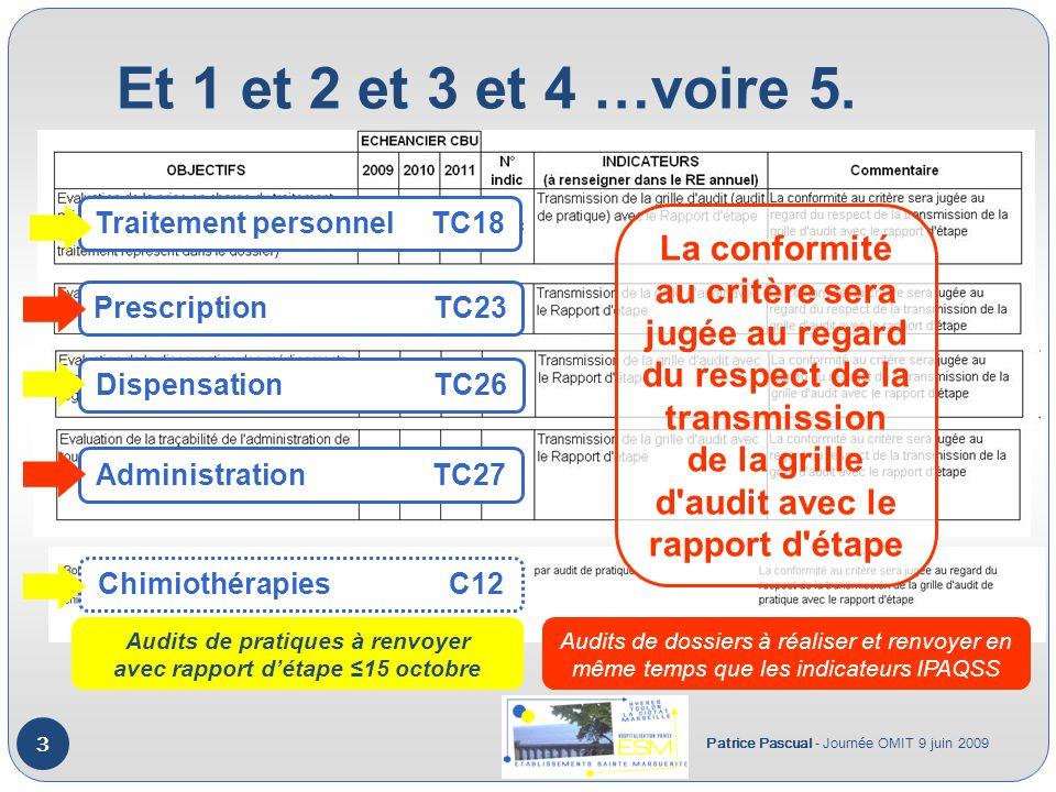 Et 1 et 2 et 3 et 4 …voire 5. Traitement personnel TC18.