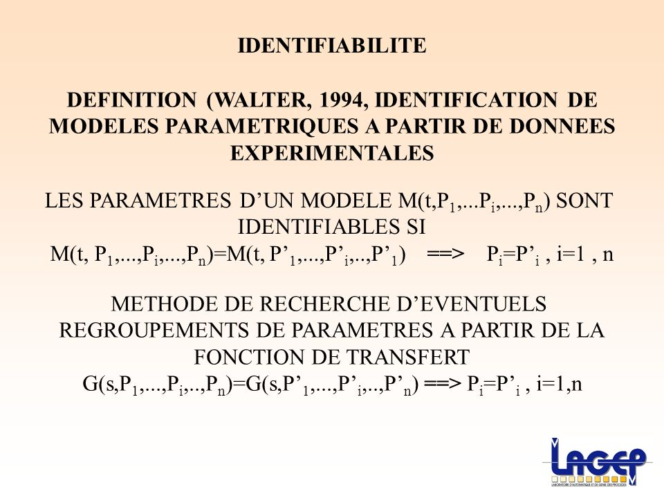DEFINITION (WALTER, 1994, IDENTIFICATION DE