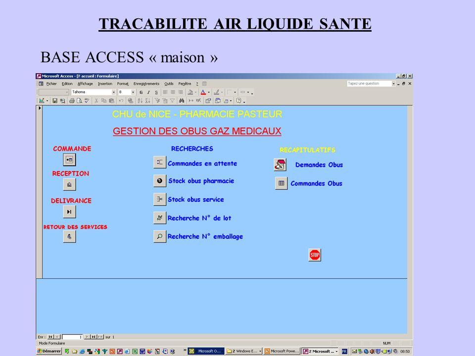 TRACABILITE AIR LIQUIDE SANTE