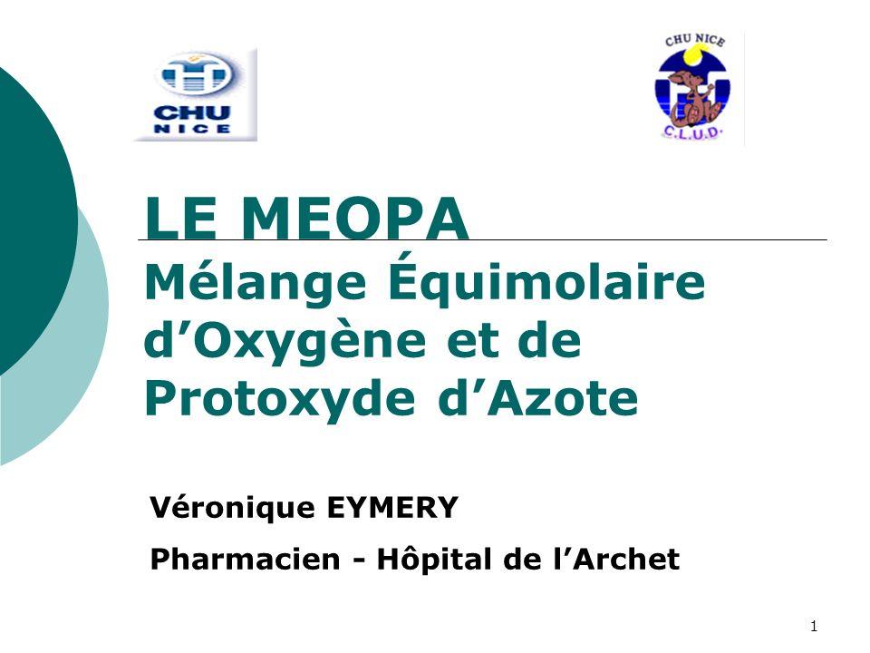 LE MEOPA Mélange Équimolaire d'Oxygène et de Protoxyde d'Azote
