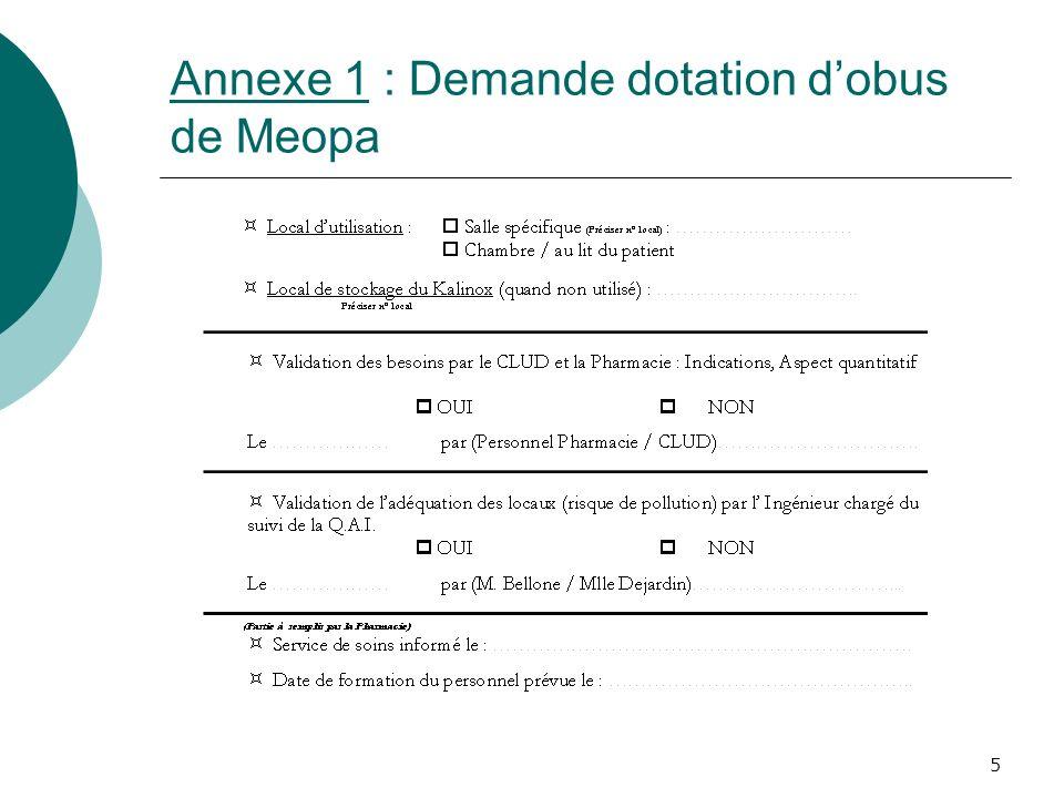 Annexe 1 : Demande dotation d'obus de Meopa