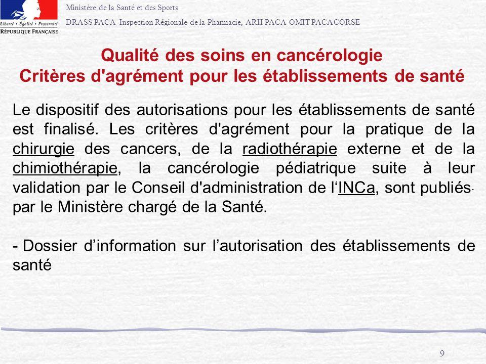 Qualité des soins en cancérologie
