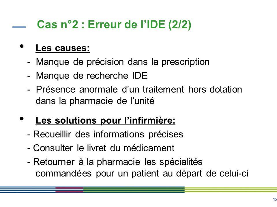 Cas n°2 : Erreur de l'IDE (2/2)