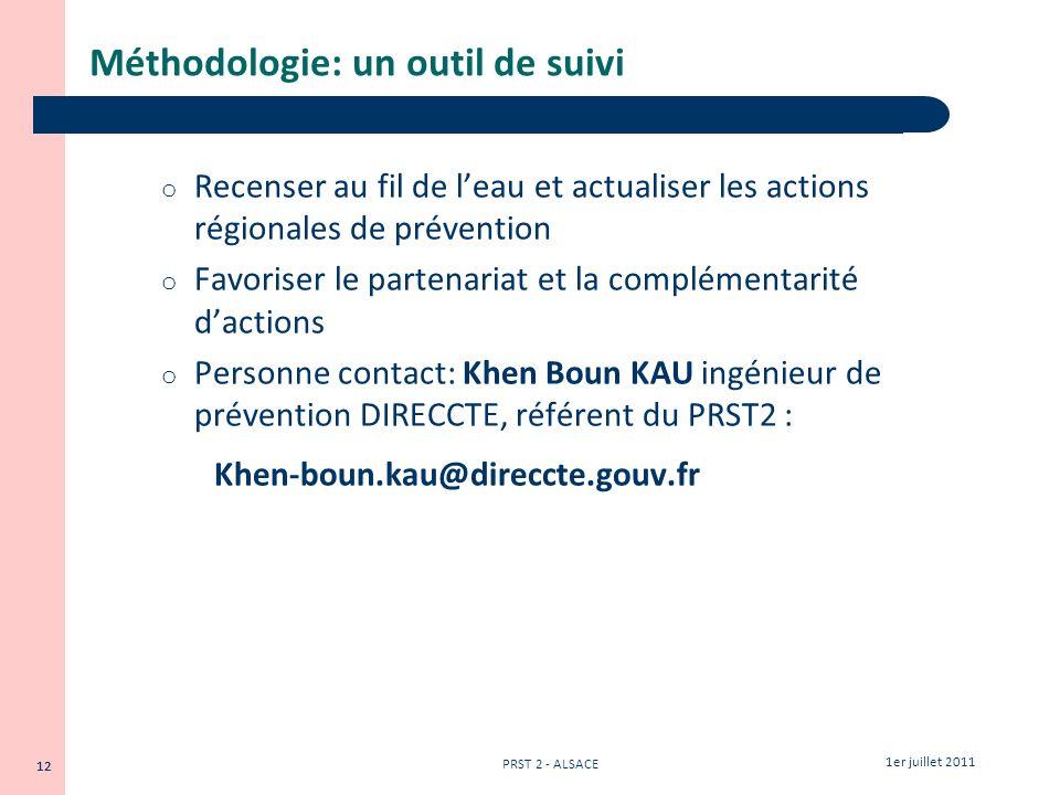 Méthodologie: un outil de suivi