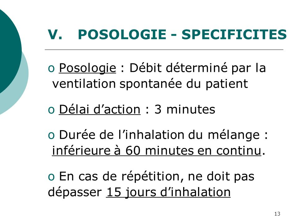 POSOLOGIE - SPECIFICITES