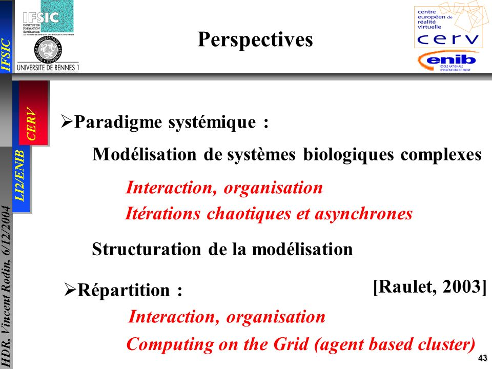 Perspectives Paradigme systémique :