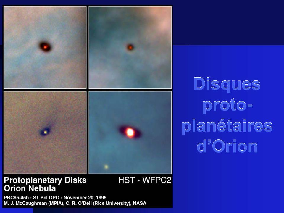 Disques proto-planétaires d'Orion