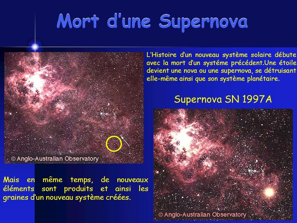 Mort d'une Supernova Supernova SN 1997A