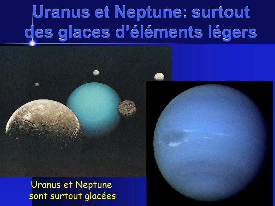 Uranus et Neptune: surtout des glaces d'éléments légers