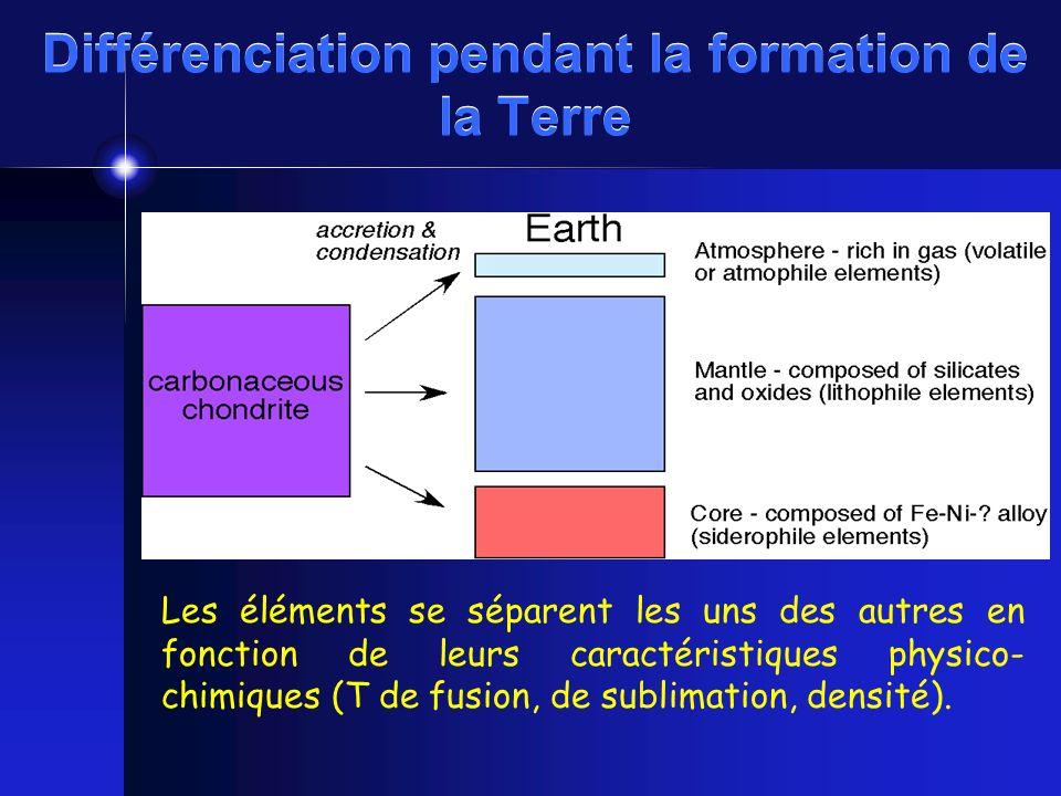 Différenciation pendant la formation de la Terre