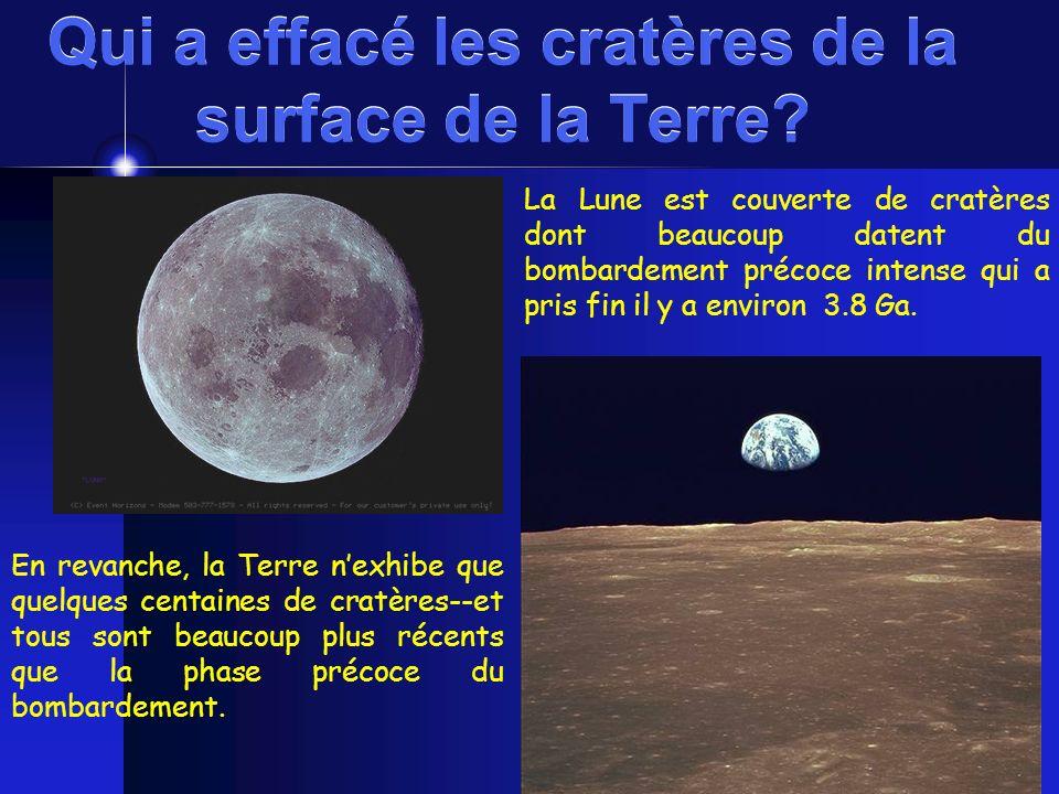 Qui a effacé les cratères de la surface de la Terre