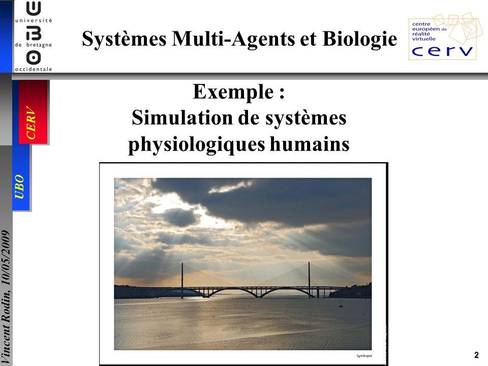 Systèmes Multi-Agents et Biologie Exemple : Simulation de systèmes