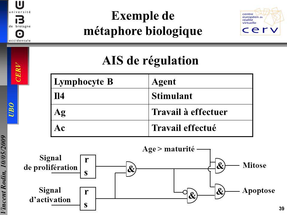 Exemple de métaphore biologique AIS de régulation