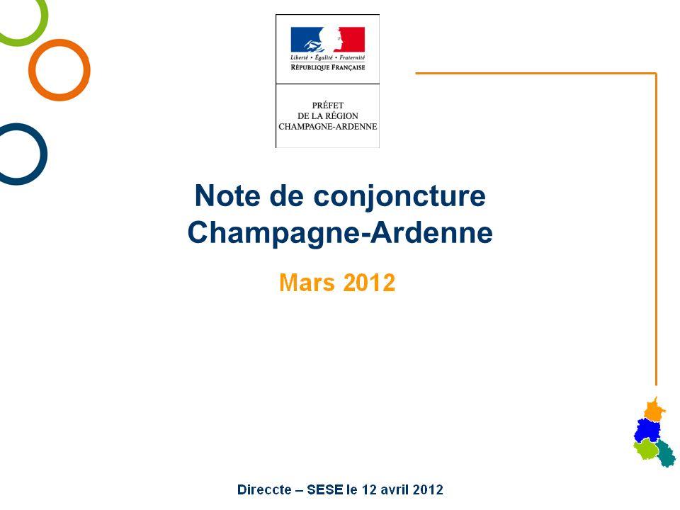 Note de conjoncture Champagne-Ardenne