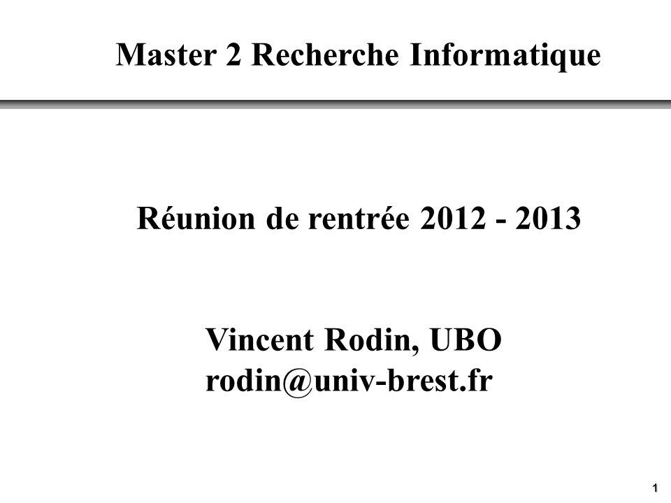 Master 2 Recherche Informatique