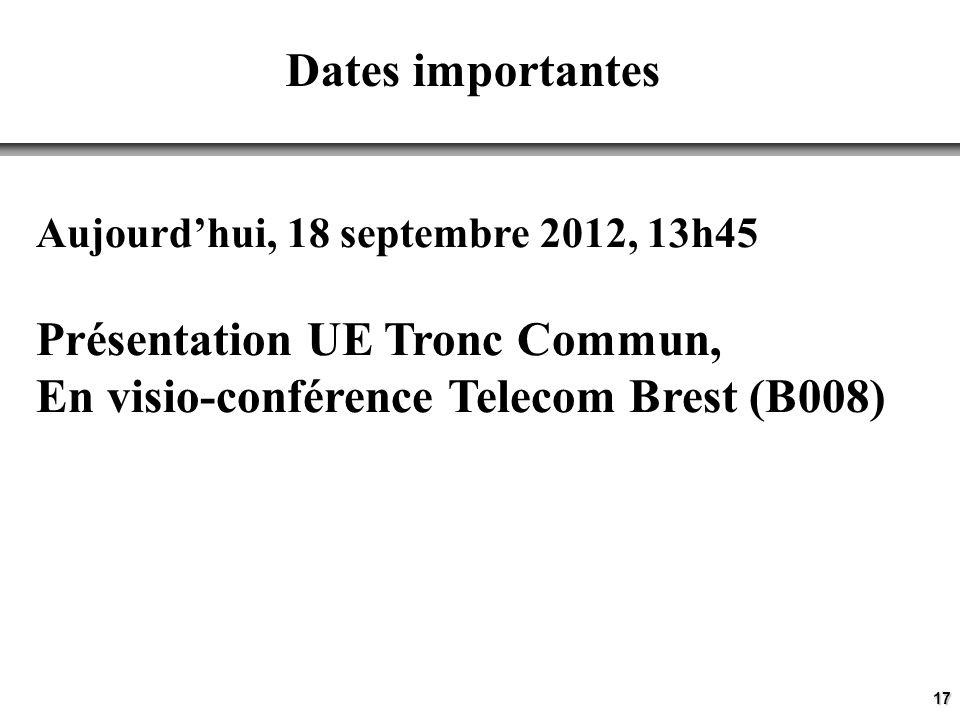 Présentation UE Tronc Commun, En visio-conférence Telecom Brest (B008)