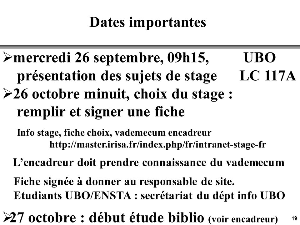 mercredi 26 septembre, 09h15, UBO