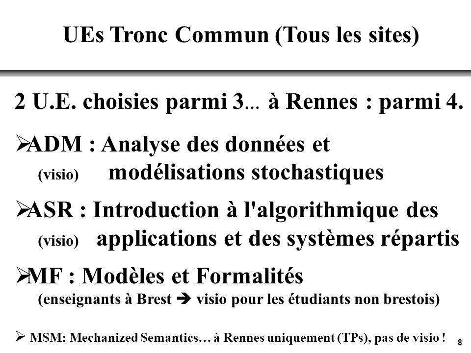 UEs Tronc Commun (Tous les sites)