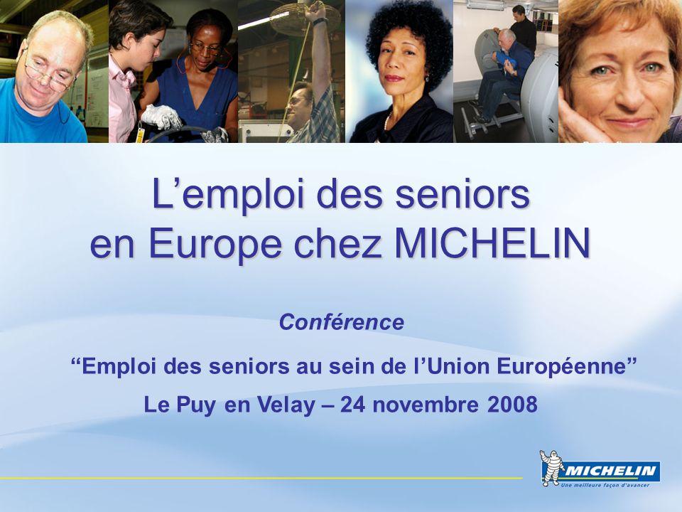 L'emploi des seniors en Europe chez MICHELIN