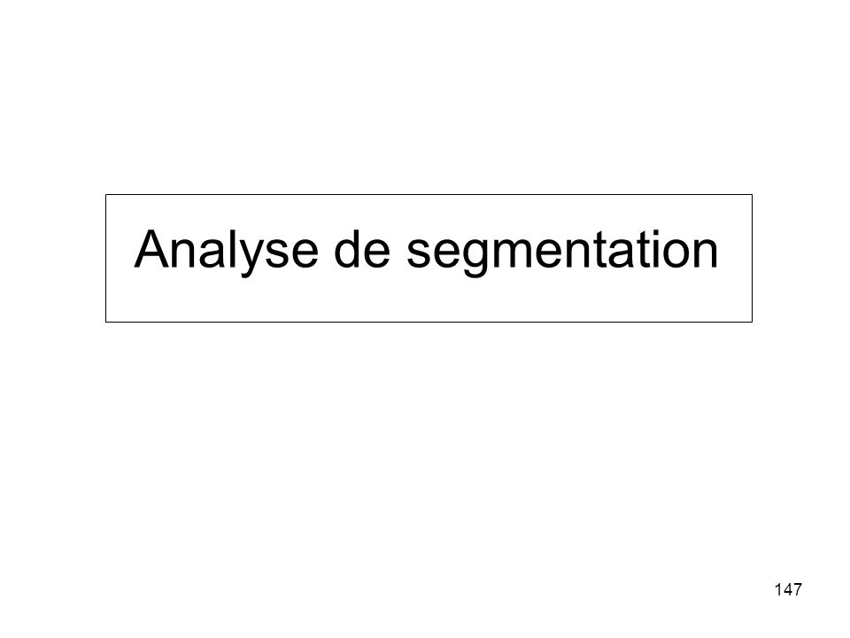 Analyse de segmentation
